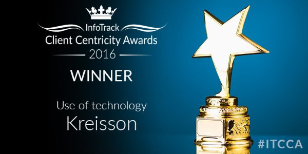 Kreisson Infotrack Customer Centricity Awards 2016